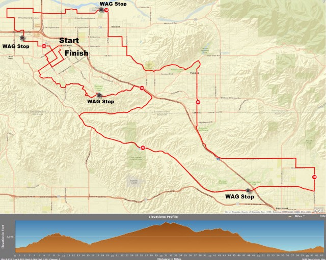 RUFF 2015 62 mile map